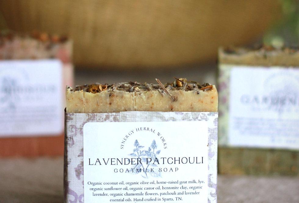 Lavender Patchouli Goat Milk Soap Bar