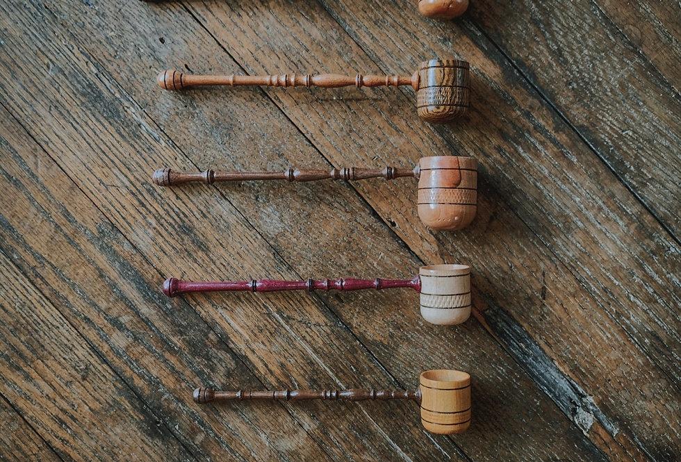 Hand Carved Wooden Tea Scoop