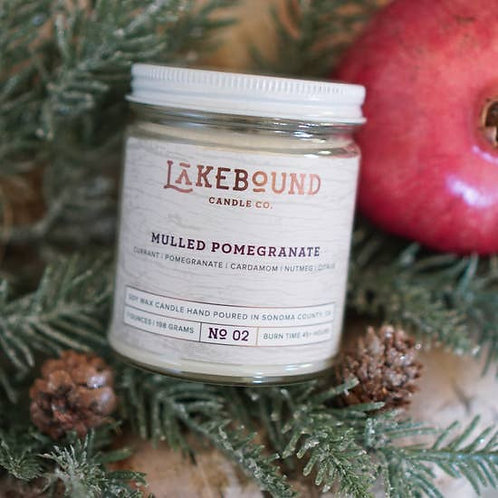 Mulled Pomegranate Soy Candle