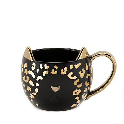 Chloe™ Black Leopard Mug by Pinky Up
