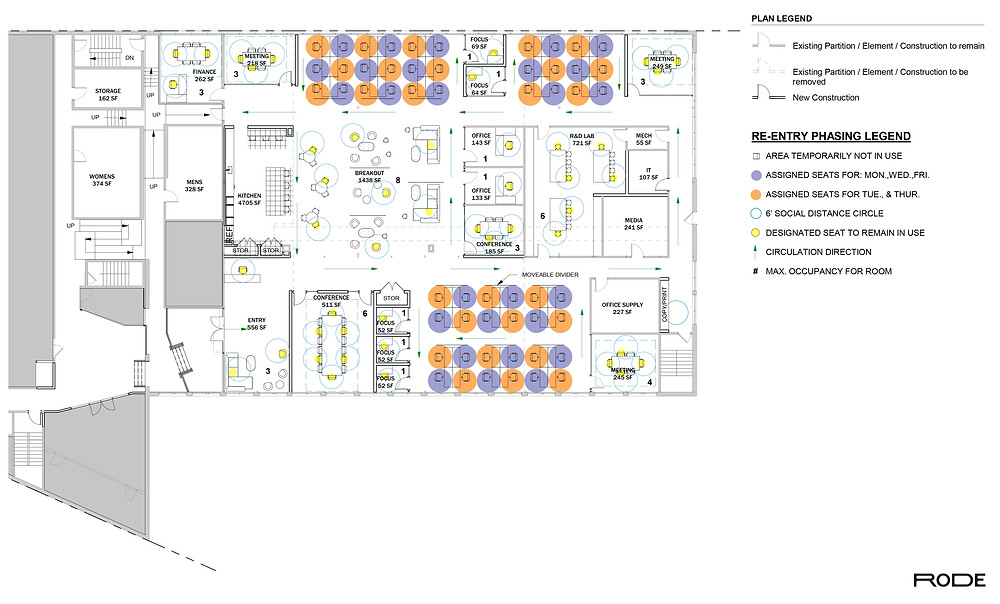 Office Design Plan by RODE