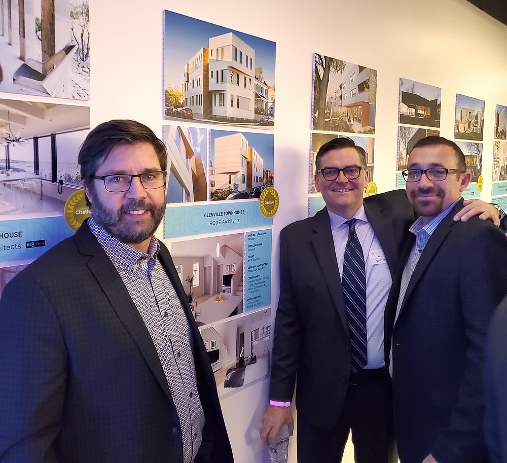 from left: Principals Eric Robinson and Kevin Deabler; Glenville client Dmitry Baskin