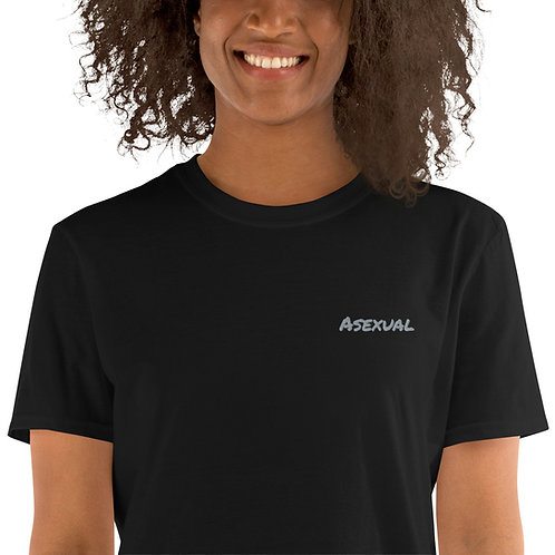 Asexual Embroidered Shirt - Short-Sleeve Unisex T-Shirt