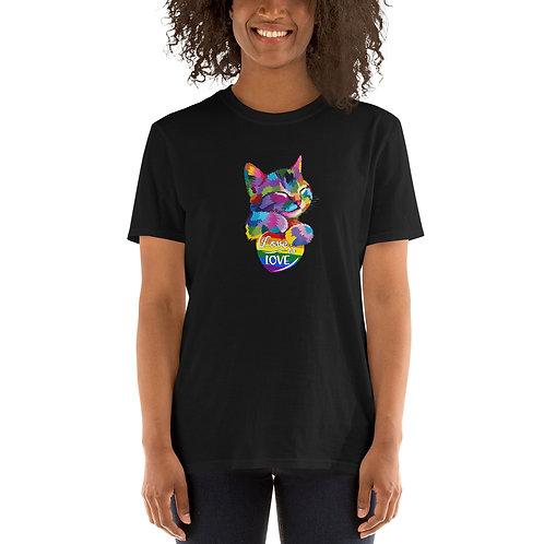 Kitty Love is Love Shirt - Short-Sleeve Unisex T-Shirt