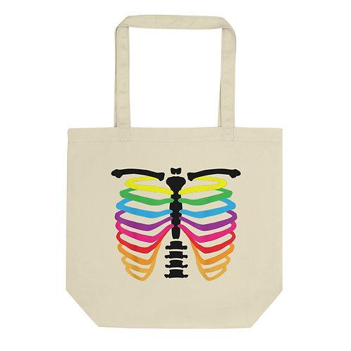 Rainbow bone Eco Tote Bag