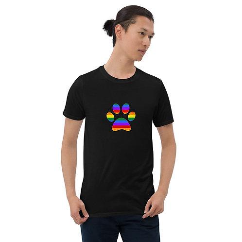 Paw Print Rainbow Shirt - Short-Sleeve Unisex T-Shirt