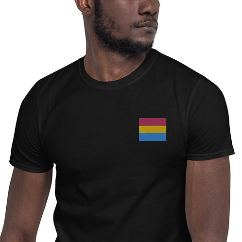 Pansexual Embroidered Shirt- Short-Sleeve Unisex T-Shirt