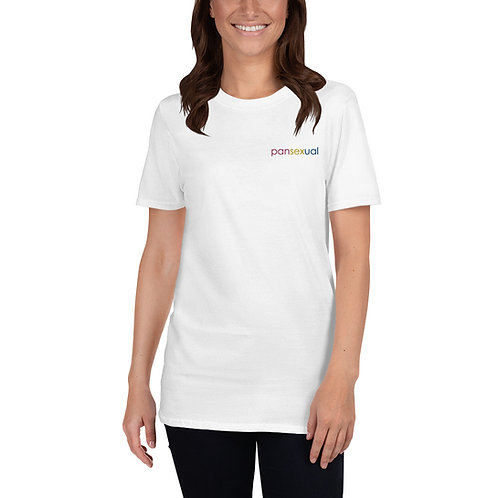 Pansexual Embroidered Shirt - Short-Sleeve Unisex T-Shirt