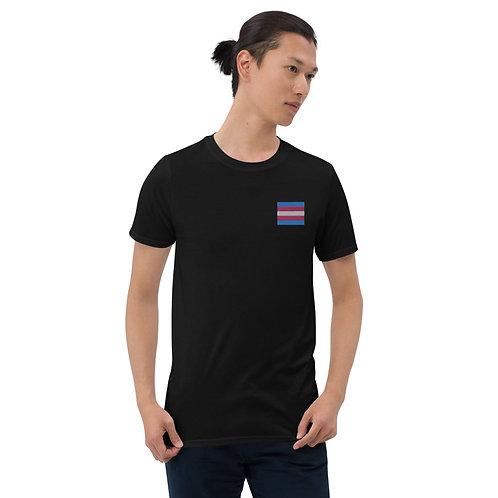 Transgender Trans Embroidered Shirt - Short-Sleeve Unisex T-Shirt