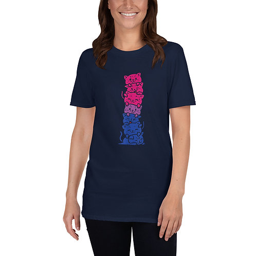 Bisexual Kitty Stack Shirt - Short-Sleeve Unisex T-Shirt