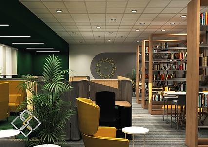 Library design for university of Jeddah