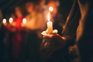 Stimmungsvolle Kerze