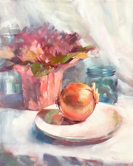 barbara benedetti newton onion oil painting