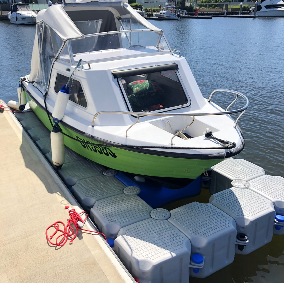 Small Cabin Boat Dock