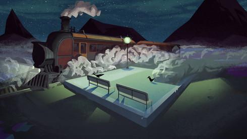 TRAIN PLATFORM - Concept Art