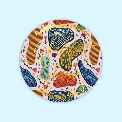 Moon dusk | 10 Challah stickers