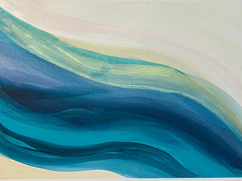 Ocean Series #5 Acrylic on paper