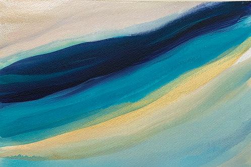 Ocean Series #7 Acrylic on paper