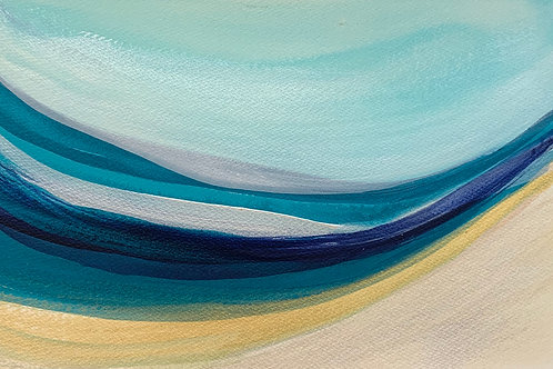 Ocean Series #6 Acrylic on paper