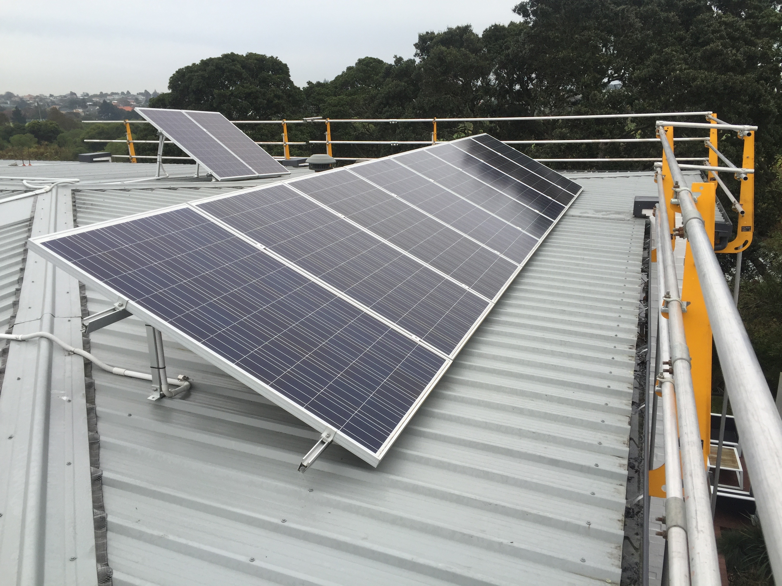 Edge protection solar panel