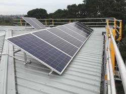 Edge protection solar panel