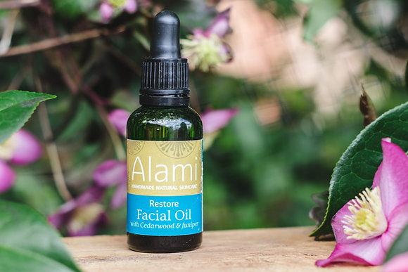 Restore Facial Oil with Cedarwood & Juniper