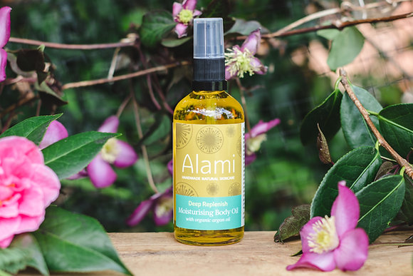 Deep Replenish Moisturising Body Oil with Organic Argan Oil