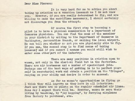 Amelia Earhart's Cautiously Optimistic 1933 Advice to an Aspiring Female Pilot