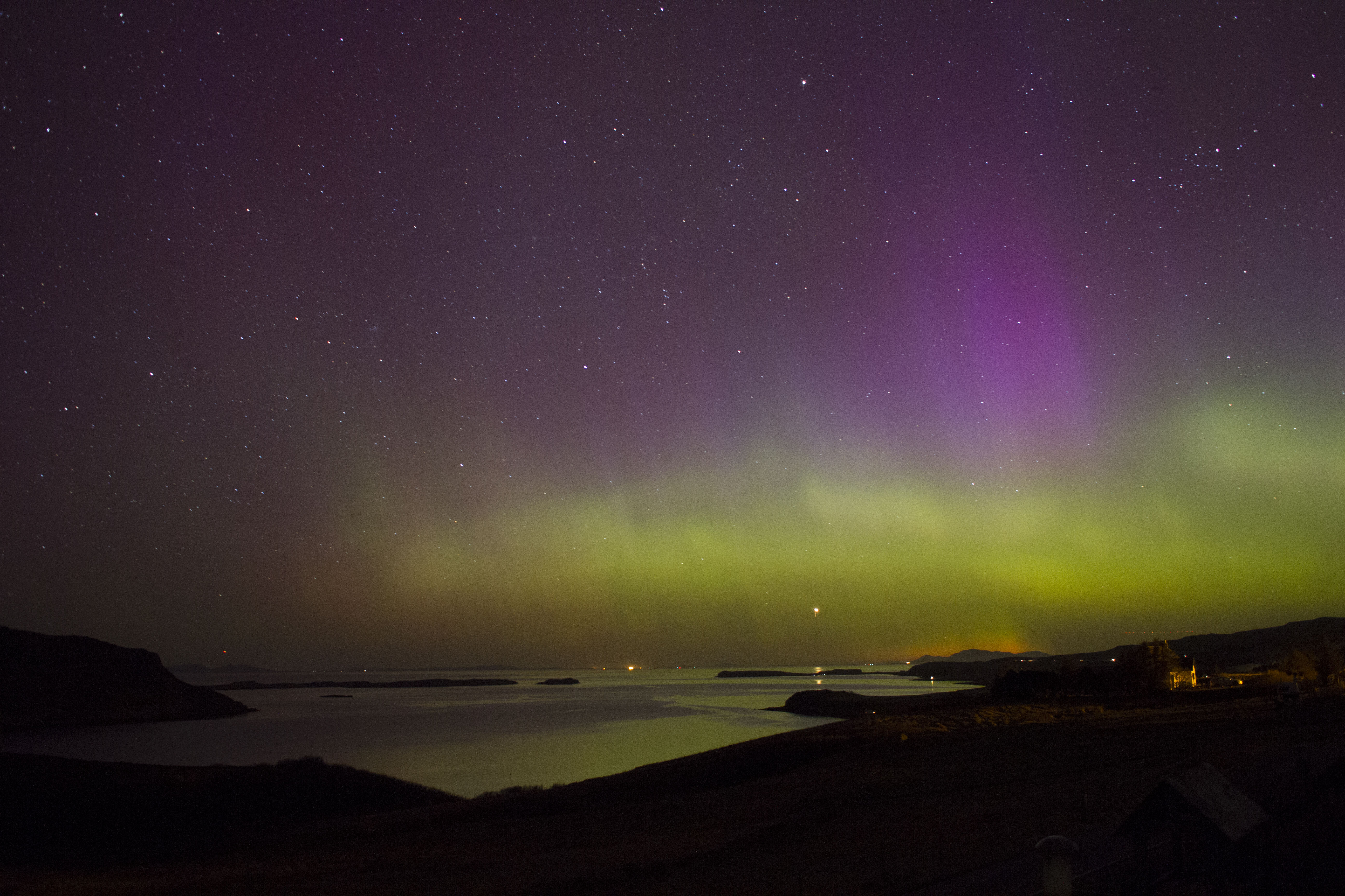 Northern Lights from the house