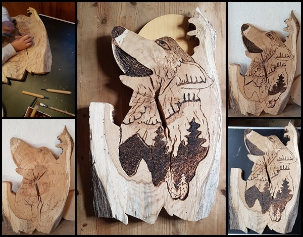 Holz Wolf 1