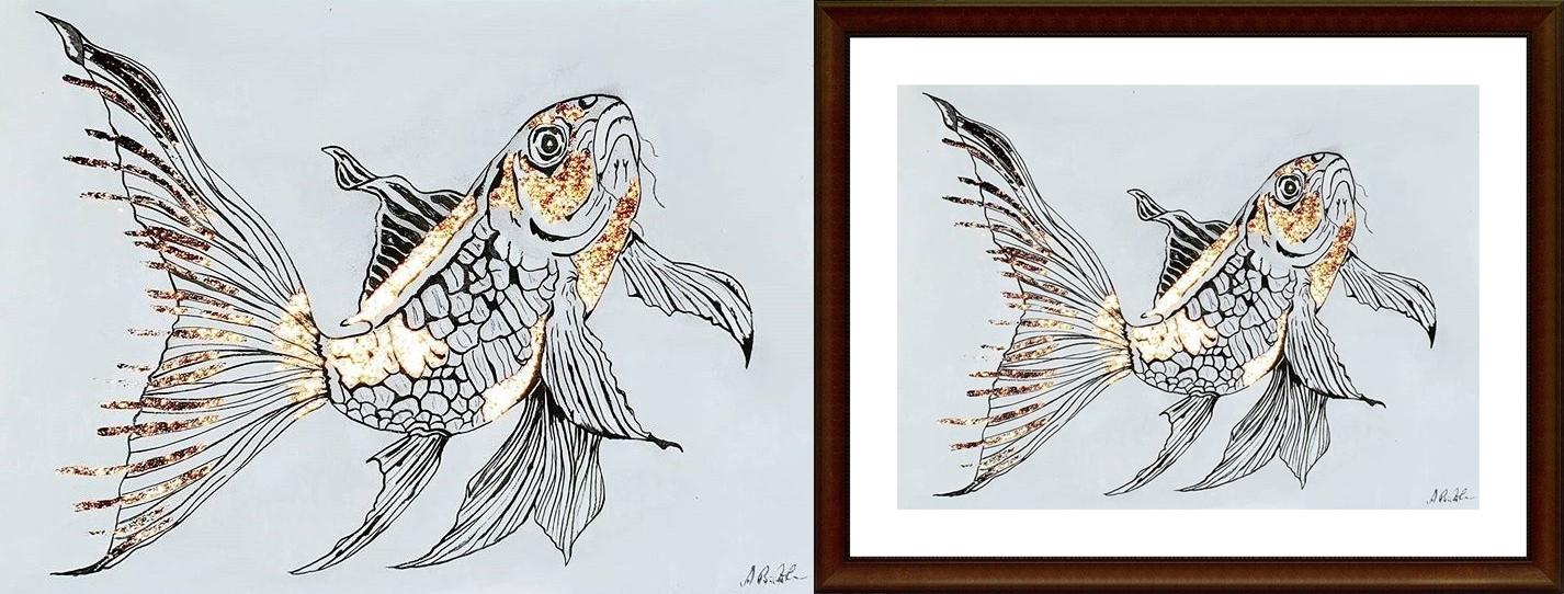 Fisch rosegold