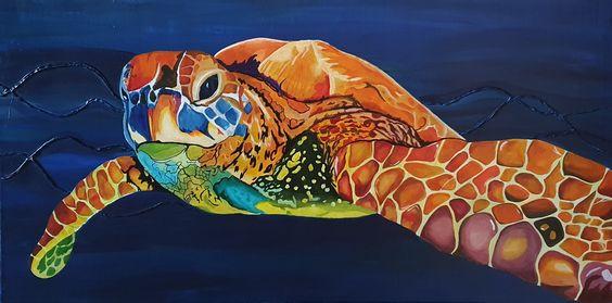 Sea Turtle 100x50