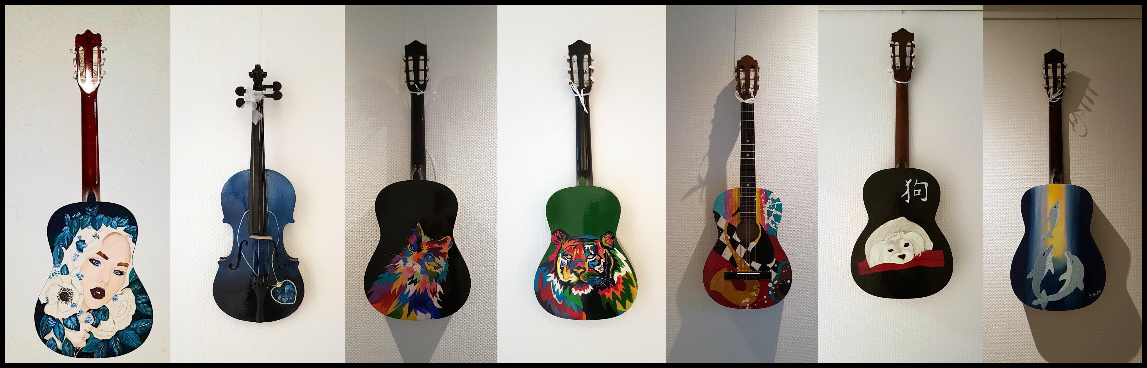 Gitarren Malerei