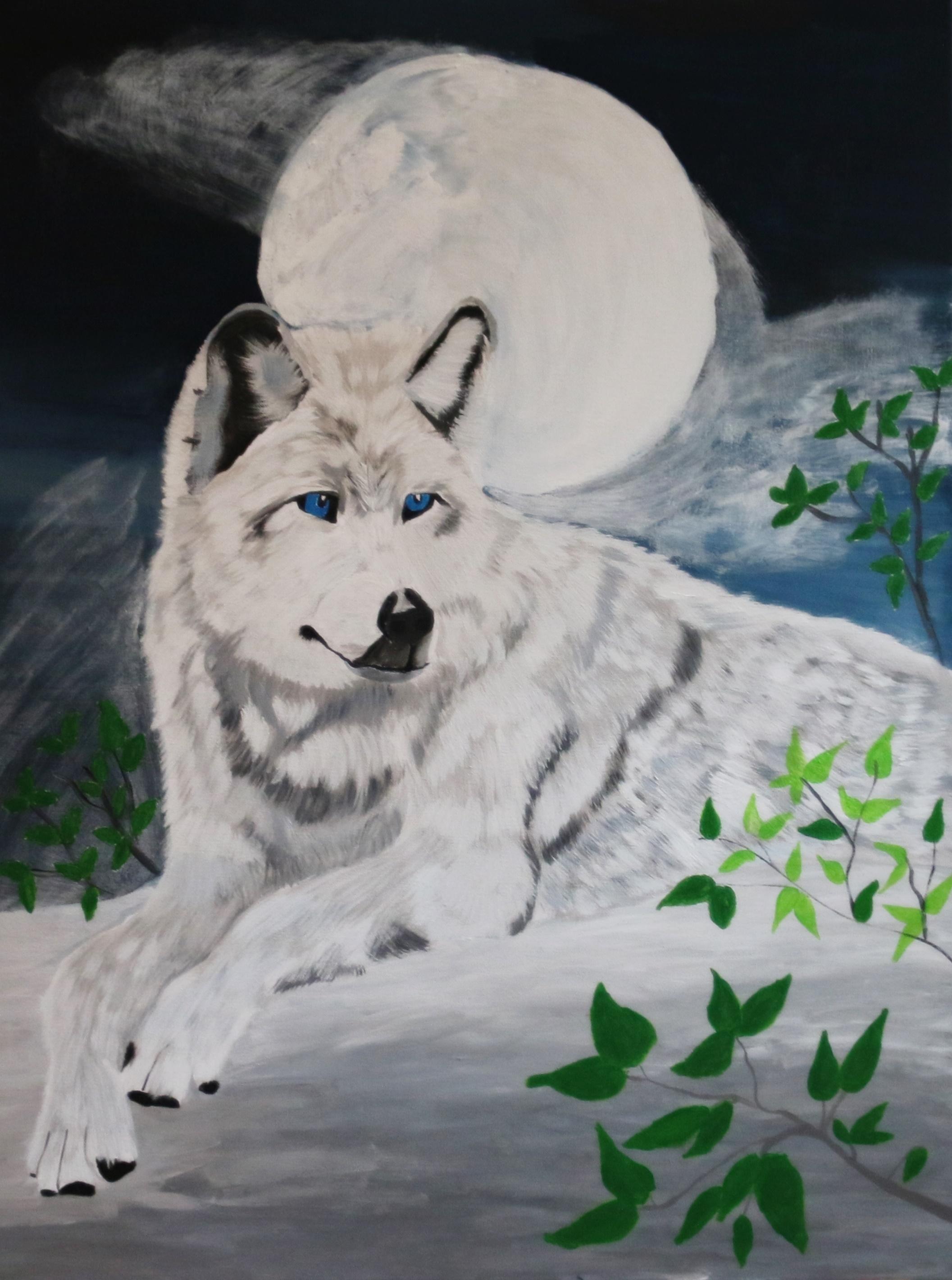 Wolf mit den blauen Augen