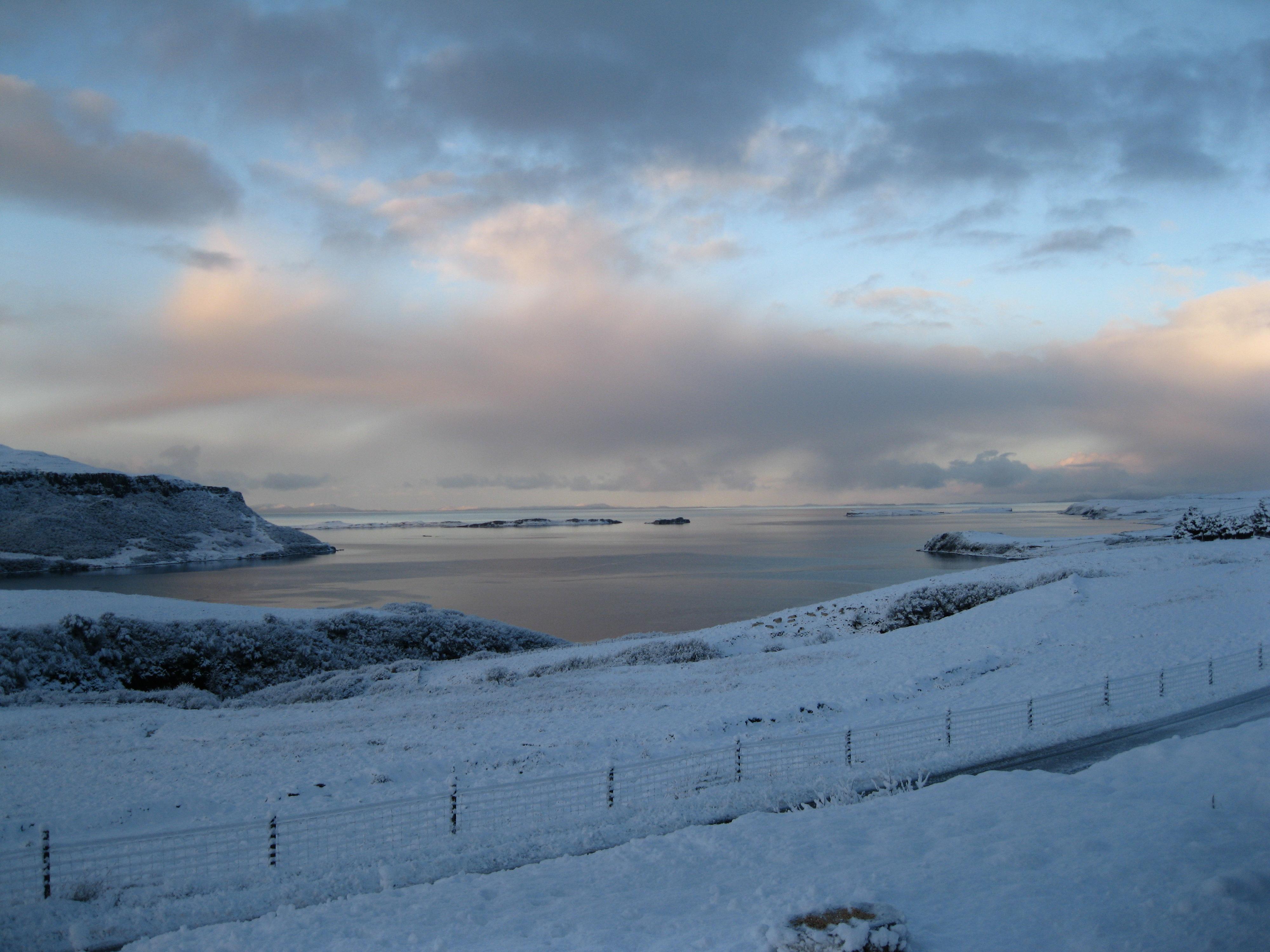 Snowy scene over the Loch