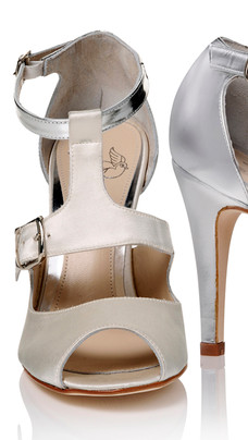 Tani Peep Toe T Bar Wedding Shoe