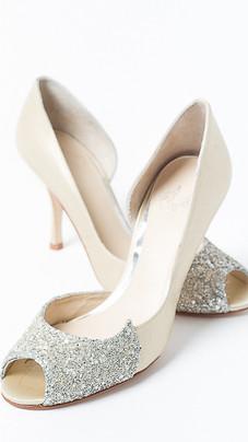 Sabreen Antique Peep Toe Wedding Shoe
