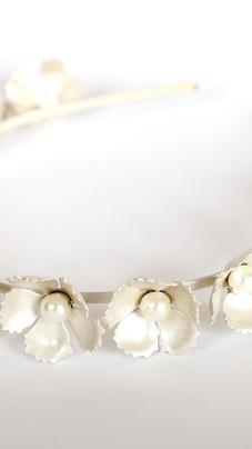 Floral Silver Headband
