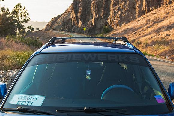 SubieWerks Reflective banner + Sunstrip