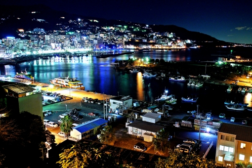 Atami city in night