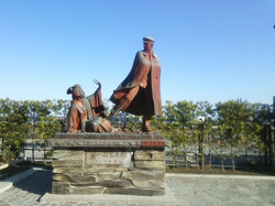 Statue of famous novel characters