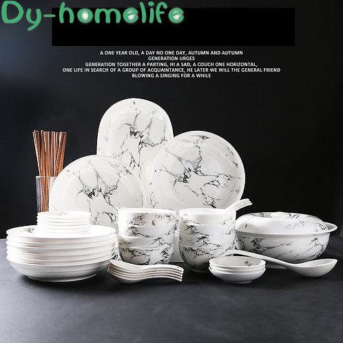 Set di stoviglie in ceramica Ciotola con motivo in marmo giapponese