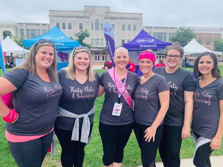 more than pink breast cancer walk with friends