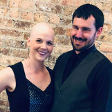 husband and wife wedding date, first bald outing