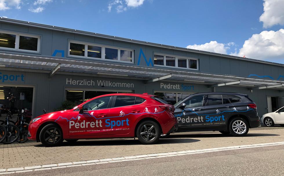 Autobeschriftungen Pedrett Sport, Winterthur