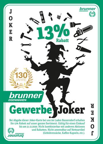 Postkarten Aktion  Brunner Eisenwaren, Bassersdorf