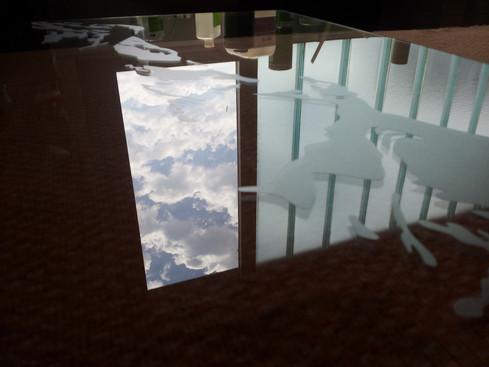 Montage der Folie auf Glas