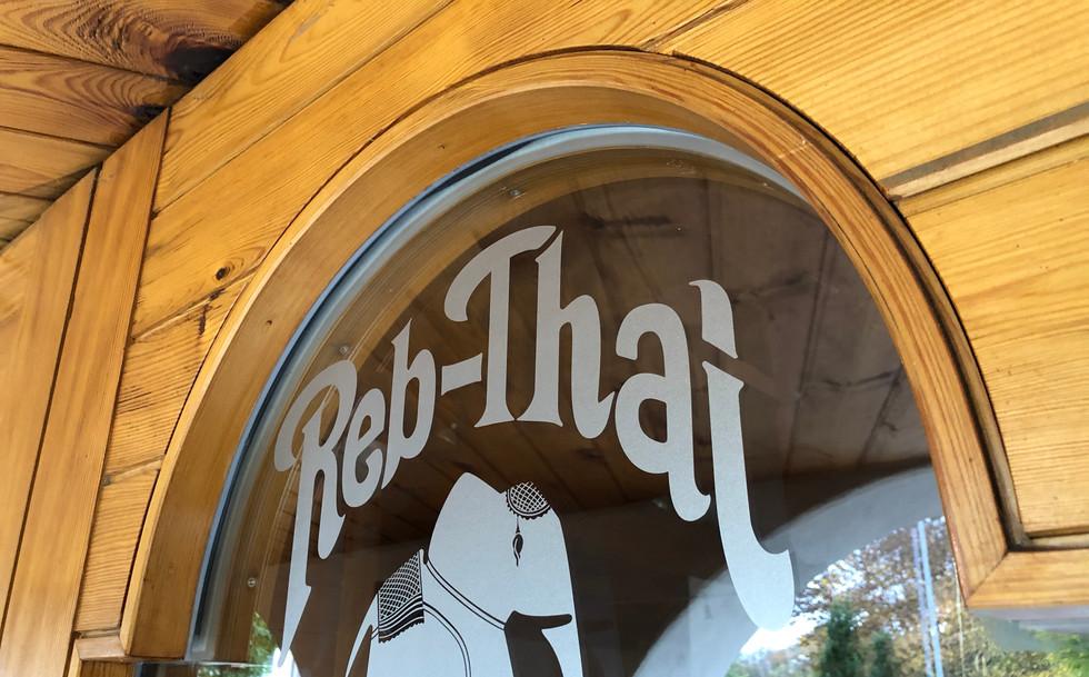 Reb-Thai Andelfingen, Schaufensterbeschriftung