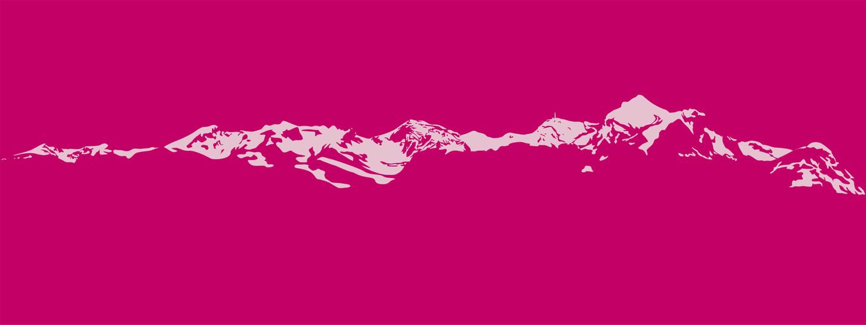 Gestaltung Bergpanorama Säntisgebiet