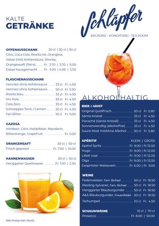 Karten Design für Bäckerei Schläpfer, Henggart